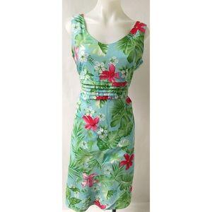 Red/Green Flower Dress Size 6
